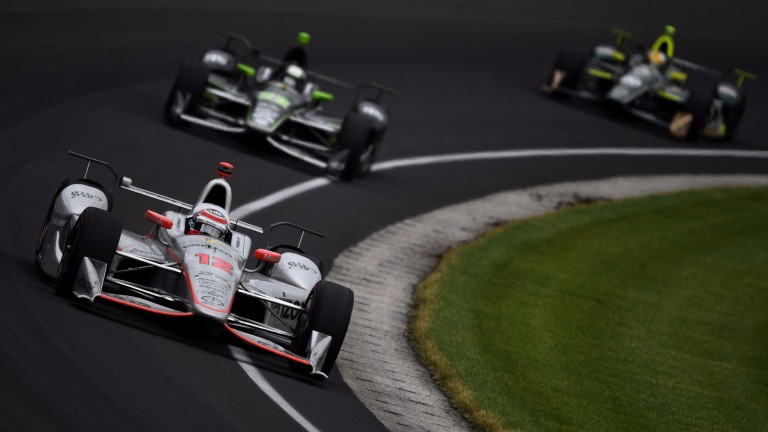 Will Power in action at the Indianapolis 500