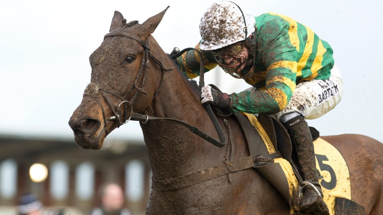 Upswing and  Sir AP McCoy in rather muddier conditions than are expected at Perth