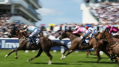 Speedy Prince: Caspian Prince (near), trained by Tony Coyle, lands a third victory in the Epsom Dash under Tom Eaves