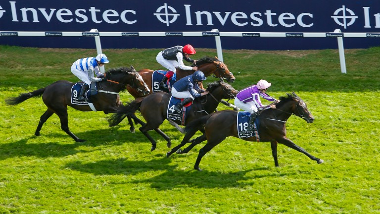 "Cracksman, far side, runs ""a grand race"" to finish a close third in the Derby"