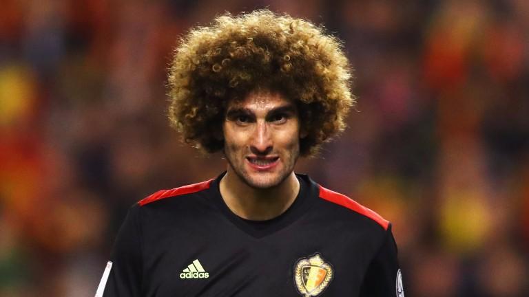 Belgium's Marouane Fellaini
