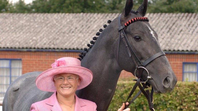 Judith Wilson with Maidstone Mixture at the Derby in 2008