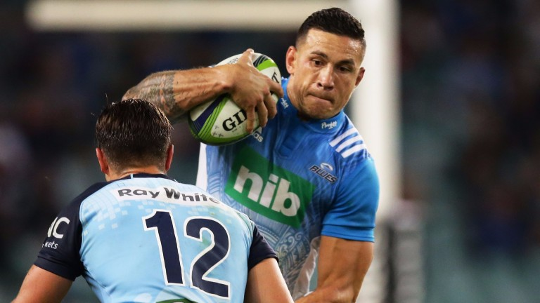 Sonny Bill Williams is out to prove his fitness for the Blues