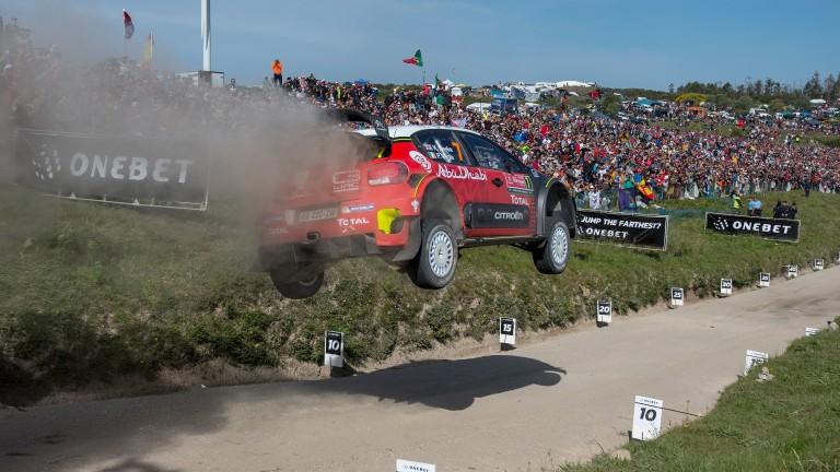 Kris Meeke flying high in last month's Rally Portugal