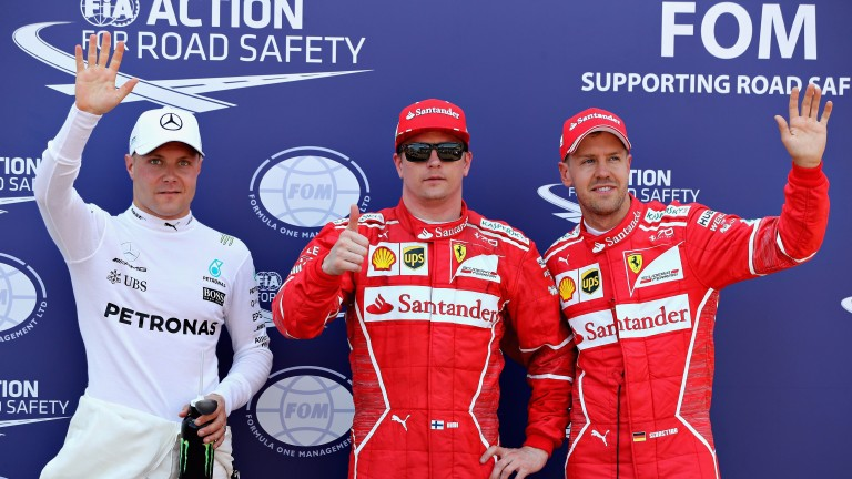 Valtteri Bottas (left) got closest to the Ferraris in qualifying in Monaco last time