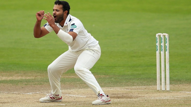 Yorkshire spinner Azeem Rafiq should enjoy the Taunton pitch