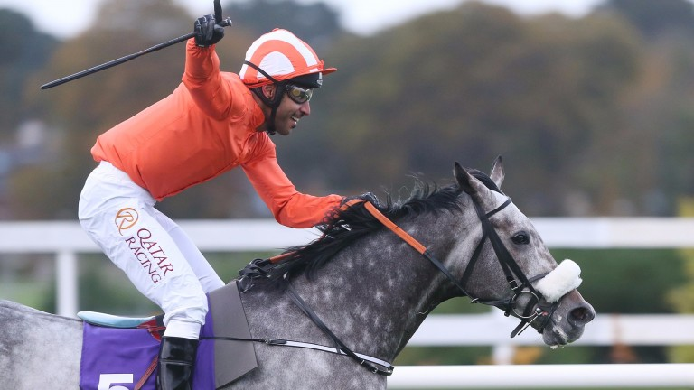 Labaik and Sheikh Fahad Al Thani striding to victory at Leopardstown during last year's series