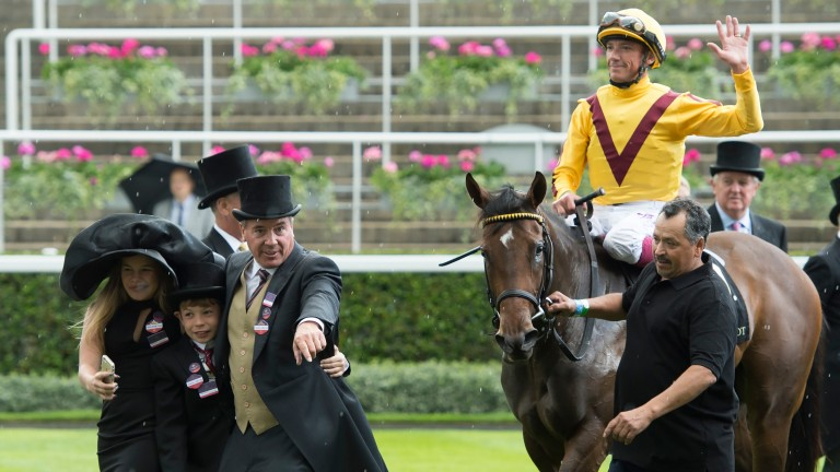 Wesley Ward, Frankie Dettori and Lady Aurelia take Ascot by storm in last year's Queen Mary