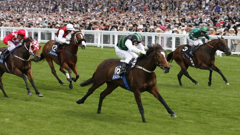 Miss Andretti, seen here winning the 2007 King's Stand Stakes at Royal Ascot