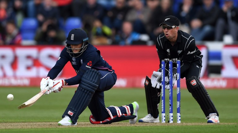 Joe Root is a crucial batsman for England, top-scoring in both games at the Champions Trophy