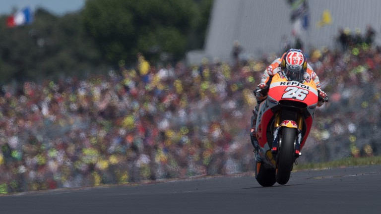 Dani Pedrosa in action at Le Mans