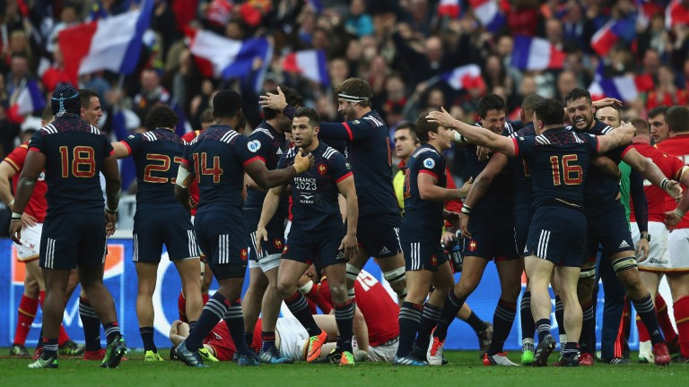 France celebrate victory over Wales