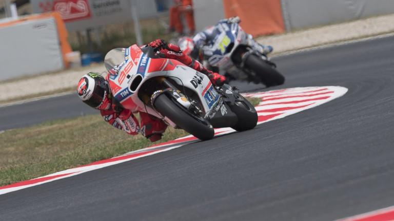Jorge Lorenzo will start second on the grid