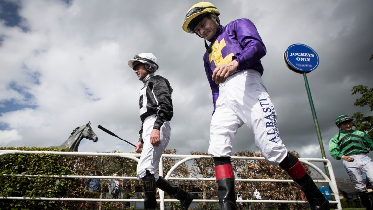 Ready to roll: Rory Cleary and Pat Smullen prepare for action