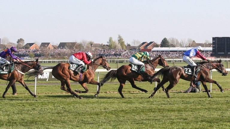 Derek Fox and One For Arthur on the way to winning the Grand National in April