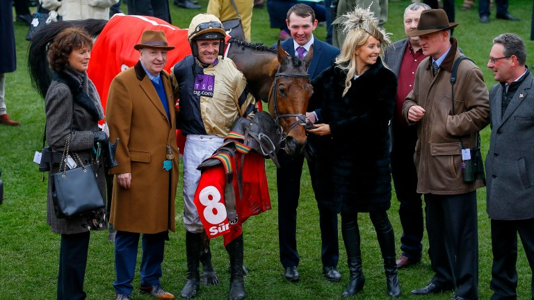 Happier times: Nichols Canyon and connections at Cheltenham in March