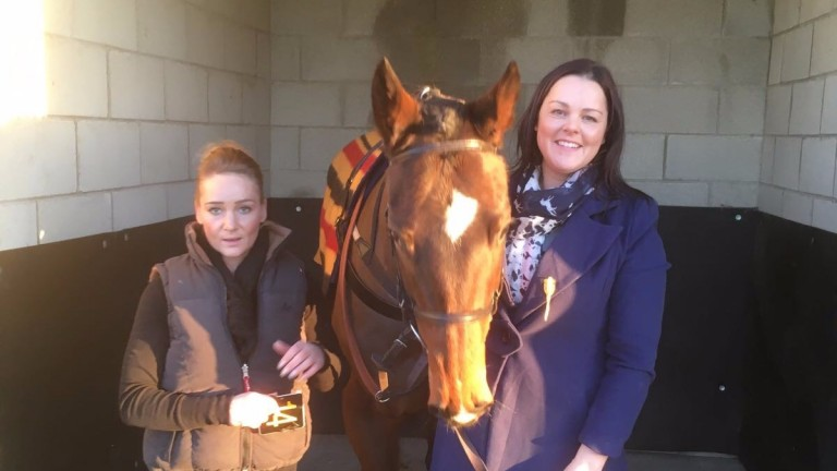 Just Marion with trainer Clare Ellam (right)