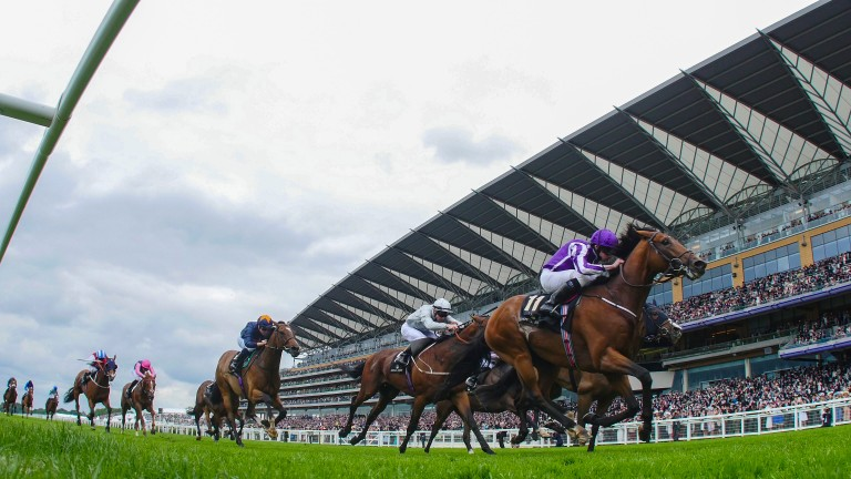 Sir Isaac Newton lands the Wolferton Handicap at the 2016 renewal of Royal Ascot