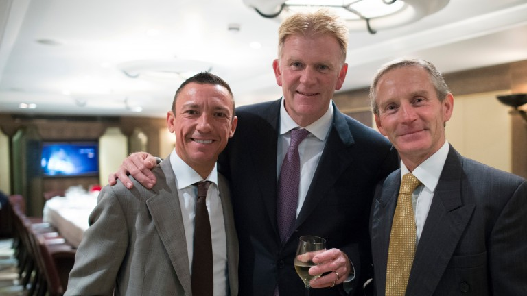 Ray Cochrane (right), pictured with Frankie Dettori and the jockey's manager Peter Burrell
