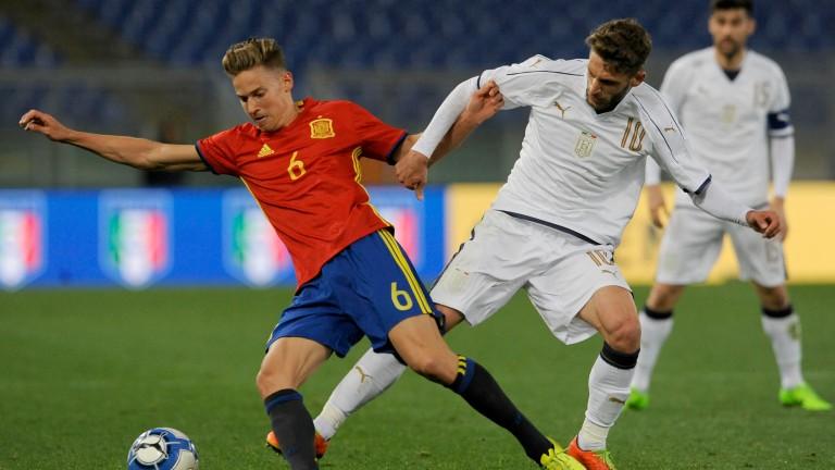Sassuolo forward Domenico Berardi (right) is a key figure in Italy's squad