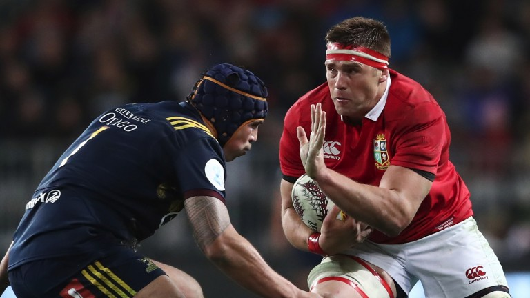 CJ Stander of the Lions in action against the Highlanders