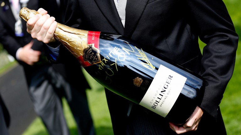 Not every bottle of champagne at Ascot is autographed by your favourite French jockey