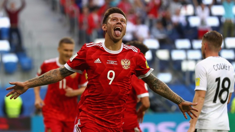 Fedor Smolov scored during Russia's win over New Zealand