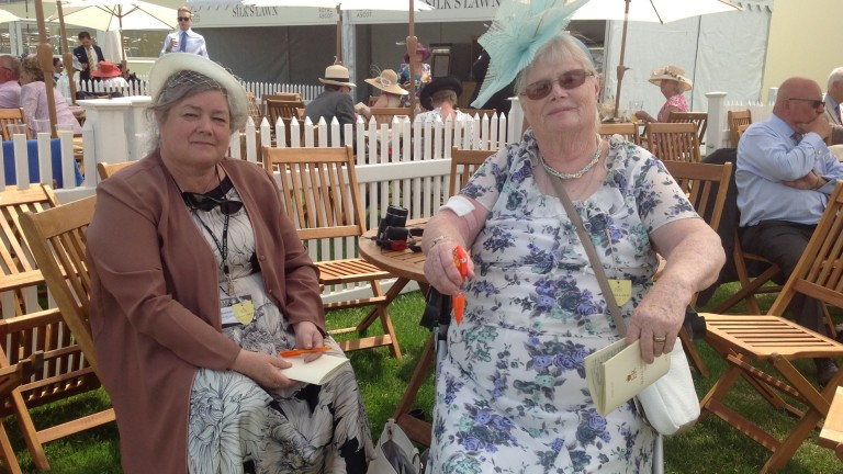 Ena King (right) looks forward to Marsha's tilt at the King's Stand Stakes