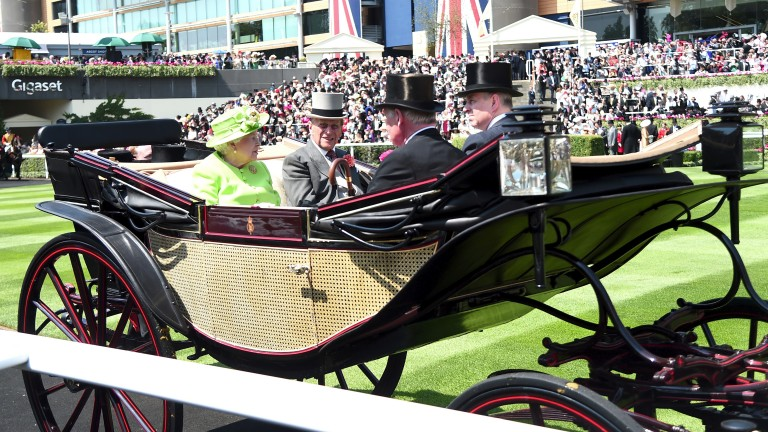 The Queen and Prince Philip arrive at Royal Ascot on Tuesday