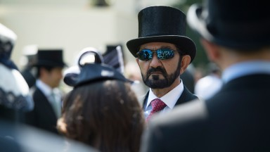 Sheikh Mohammed after the Queen Anne Stakes