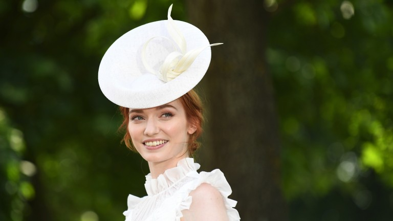 Taking centre stage: Poldark actress Eleanor Tomlinson arrives for day two