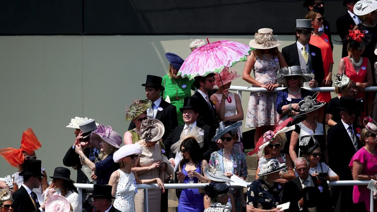 Style in the sun: racegoers soak up the atmosphere