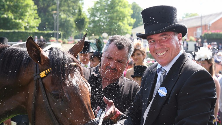 Wesley Ward: kept the Rain off with his first Royal Ascot winner over more than five furlongs