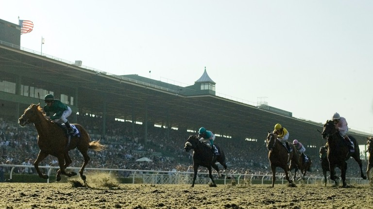 Raven's Pass winning the Breeders' Cup Classic - a great highlight of his sire's stud career