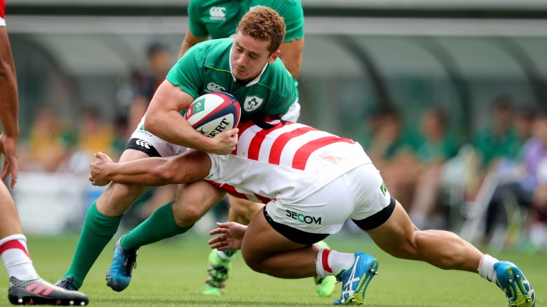 Ireland fly-half Paddy Jackson in action against Japan