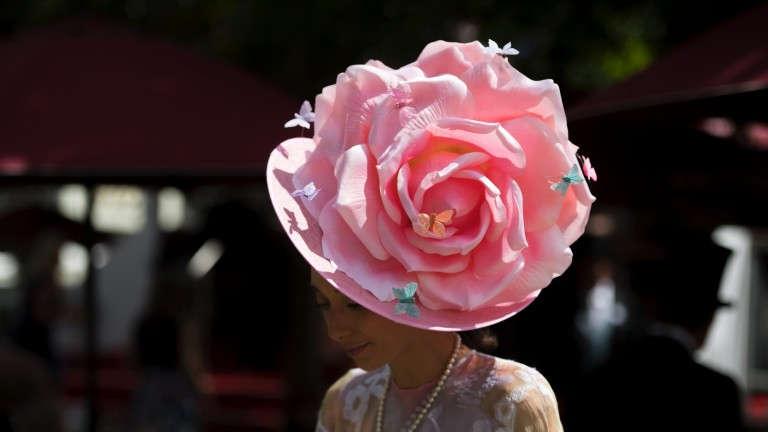 Racegoer in full bloom: a hat so good you'd think it was the Chelsea Flower Show
