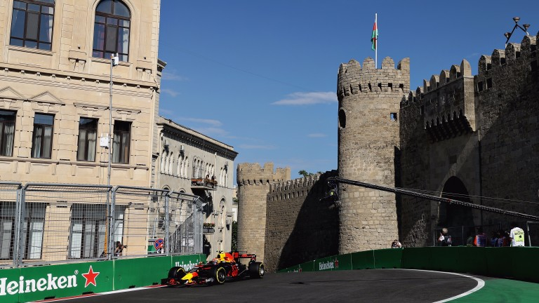 Max Verstappen was the star of day one in Baku
