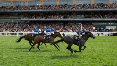 Caravaggio (Ryan Moore) wins the Commonwealth CupRoyal Ascot 23.6.17 Pic: Edward Whitaker