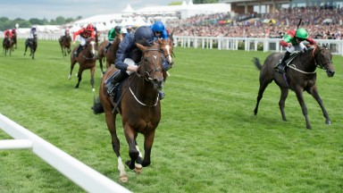 September (Ryan Moore) powers clear in the Chesham StakesRoyal Ascot 24.6.17 Pic: Edward Whitaker