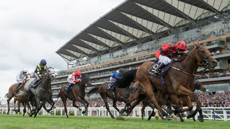 Snoano (red and black): scored in the Wolferton Handicap at 25-1