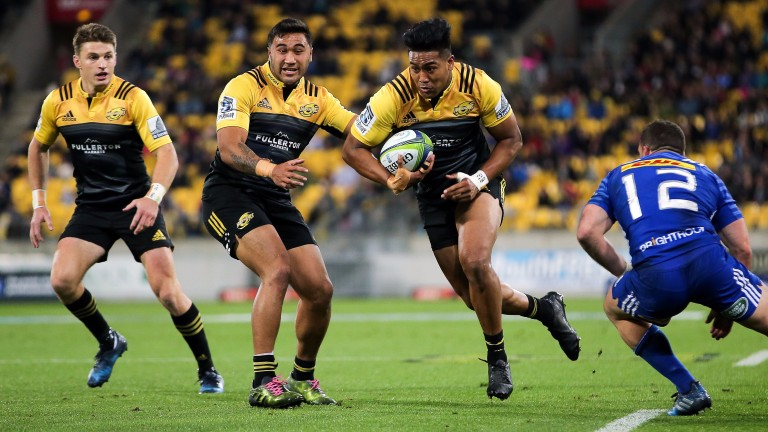 All Black Julian Savea lines up on the wing for the Hurricanes