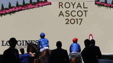 Royal Ascot Tues 20 June 2017 Picture: Caroline Norris    Toscanini ridden by Paul Hanagan leads Ribchester ridden by William Buick, winner, on the way to the start for The Queen Anne Stakes, the opening race of the Royal Meeting.