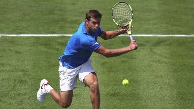 Ryan Harrison in action at the Queen's Club last week
