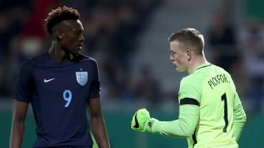 England striker Tammy Abraham and goalie Jordan Pickford