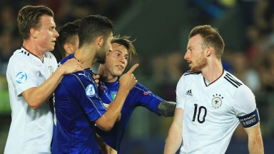 Italy U21s get hands on with Germany