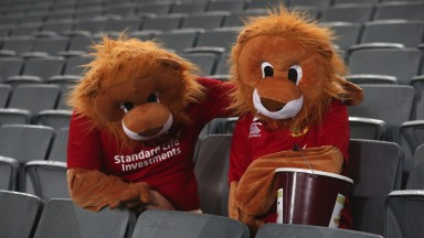 Lions fans look dejected after their Test defeat