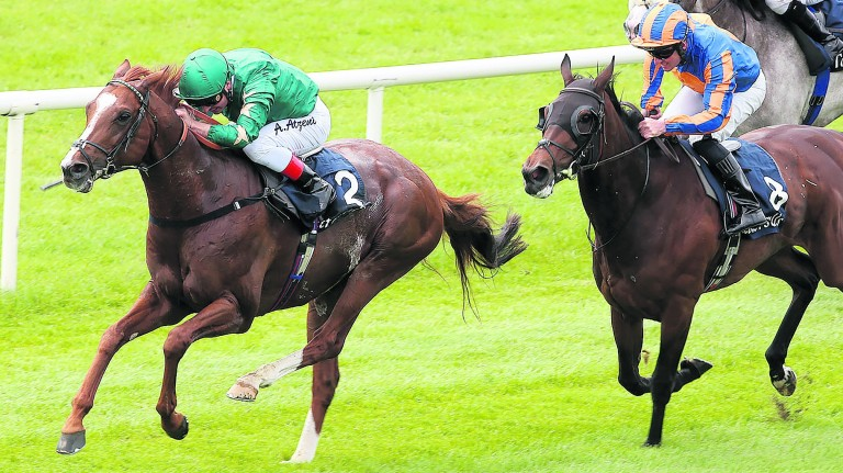 Decorated Knight and Andrea Atzeni lead home Somehow in the Tattersalls Gold Cup