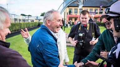 Michael Flannery: all smiles after Palmones provided him with a first winner since May 2012