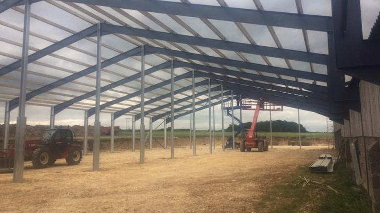 Big ambitions: the new barn taking shape at Colin Tizzard's Venn Farm yard