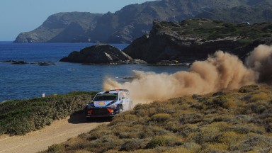 Thierry Neuville on his way to another podium, in Sardinia